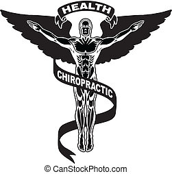 Chiropractic Symbol II - Illustration of a chiropractors...