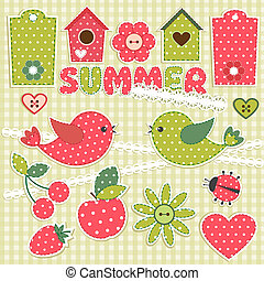 SummerVector scrapbook elements