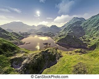 fantasy landscape - An image of a nice fantasy landscape