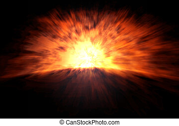 explosion - An image of a big and heavy explosion