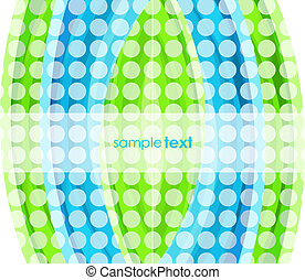 Dotted solid wave background
