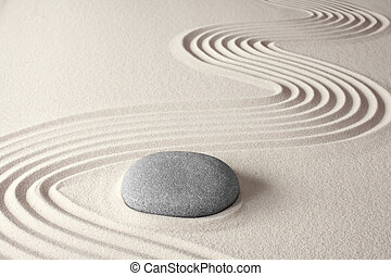 spiritual zen meditation background in Japanese rock garden...