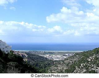 Haifa View from Denya 2006 - View to Mediterranean from...
