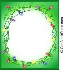 Tangled Holiday Lights Borde, Frame