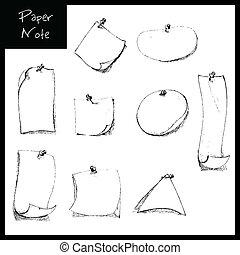 Hand Drawn Note paer