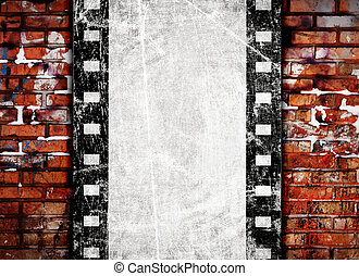 grunge film background with space for text