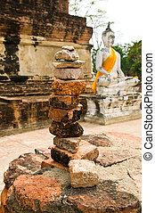 estructura, piedras, arreglado, bal