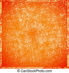 scratched orange background