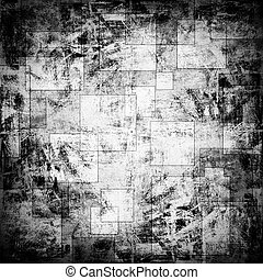 scratched background with squares