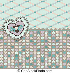 Vintage background with heart