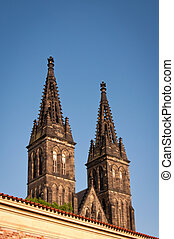 Vysehrad towers - Vysehrad church towers