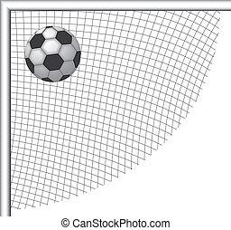 Soccer ball, footbal game, goal