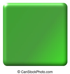 Medium Green Button - Illustration of a medium green button,...
