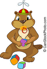 Beaver CREES - Cartoon Character Beaver CREES Isolated on...
