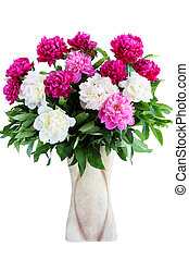 bouquet of peonies - Large beautiful bouquet of peonies in a...