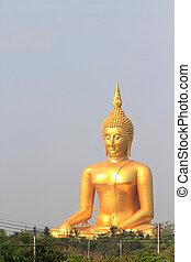 Buddha statue, Wat muang in Thailand - Buddha statue, Wat...