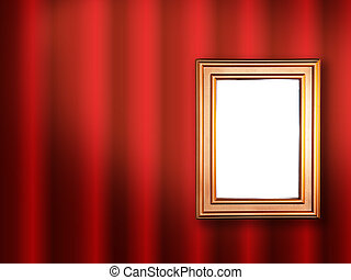 Decorative frame for a photo on a red abstract background