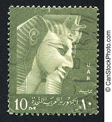 Ramses II - EGYPT - CIRCA 1957: stamp printed by Egypt,...