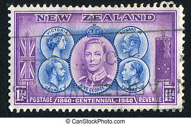 monarchs - NEW ZEALAND - CIRCA 1940: stamp printed by New...