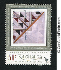 abstarction - NEW ZEALAND - CIRCA 2008: stamp printed by New...