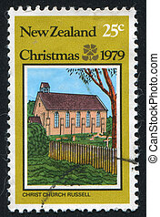 Christ Church - NEW ZEALAND - CIRCA 1979: stamp printed by...