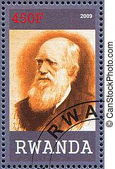 Charles Robert Darwin - RWANDA - CIRCA 2009: stamp printed...
