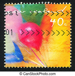 Ballons - NEW ZEALAND - CIRCA 1991: stamp printed by New...
