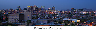 Phoenix Arizona Skyline at night