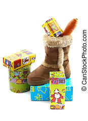 Sinterklaas - Boot filled with a carrot and presents...