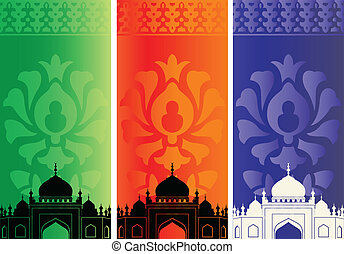 Islamic mosques and ornaments
