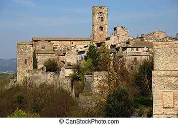 Colle di Valdelsa - A beautiful medieval village in the...