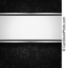 Background black ornamental fabric texture, vector design