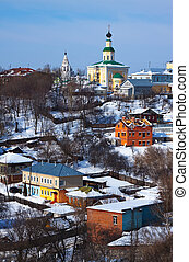 historical district at Vladimir city. Russia
