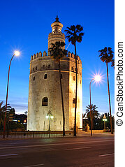 Tower of Gold, Seville, Andalusia.