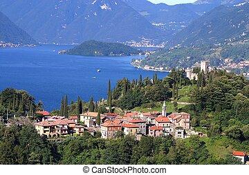 Lago di Como - Castello di Vezio - Panorama del lago di Como...
