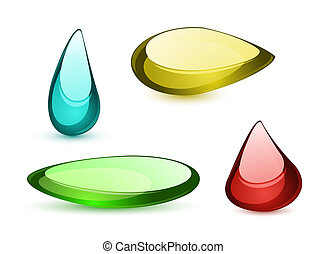 Colorful glass shapes