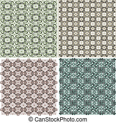 Morocco Seamless Patterns Background Set