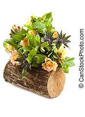 Natural bouquet - bouquet with different kind of flowers on...