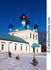 Church at Gorokhovets in winter. Russia - Church of Our Lady...