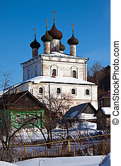 Church of the Resurrection at Gorokhovets in winter - Church...