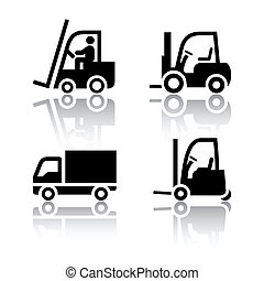 Set of transport icons - loader