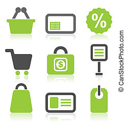 Icon sale3 - Set of icons on a theme sale. A vector...
