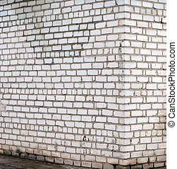 Perspective brick wall - wall of sand-lime brick in the...