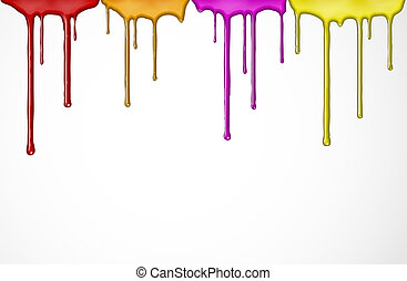 Colorful paint - Flowing down the colorful paint. Eps 10