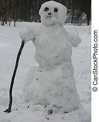 snowman at the beginning initially springtimes - this...