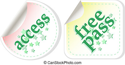 Free pass and access vector stamps set