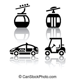 Set of transport icons - sport, vector