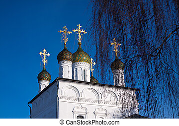 Domes of Sretensky Cathedral at Gorokhovets - Domes of...