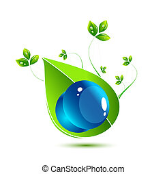 Water nature leaves concept - Vector illustration for your...