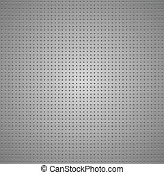 Structured gray metallic perforated sheet, vector design